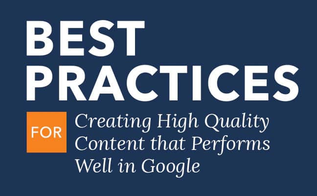 Creating High Quality Content for Search Engine Optimization