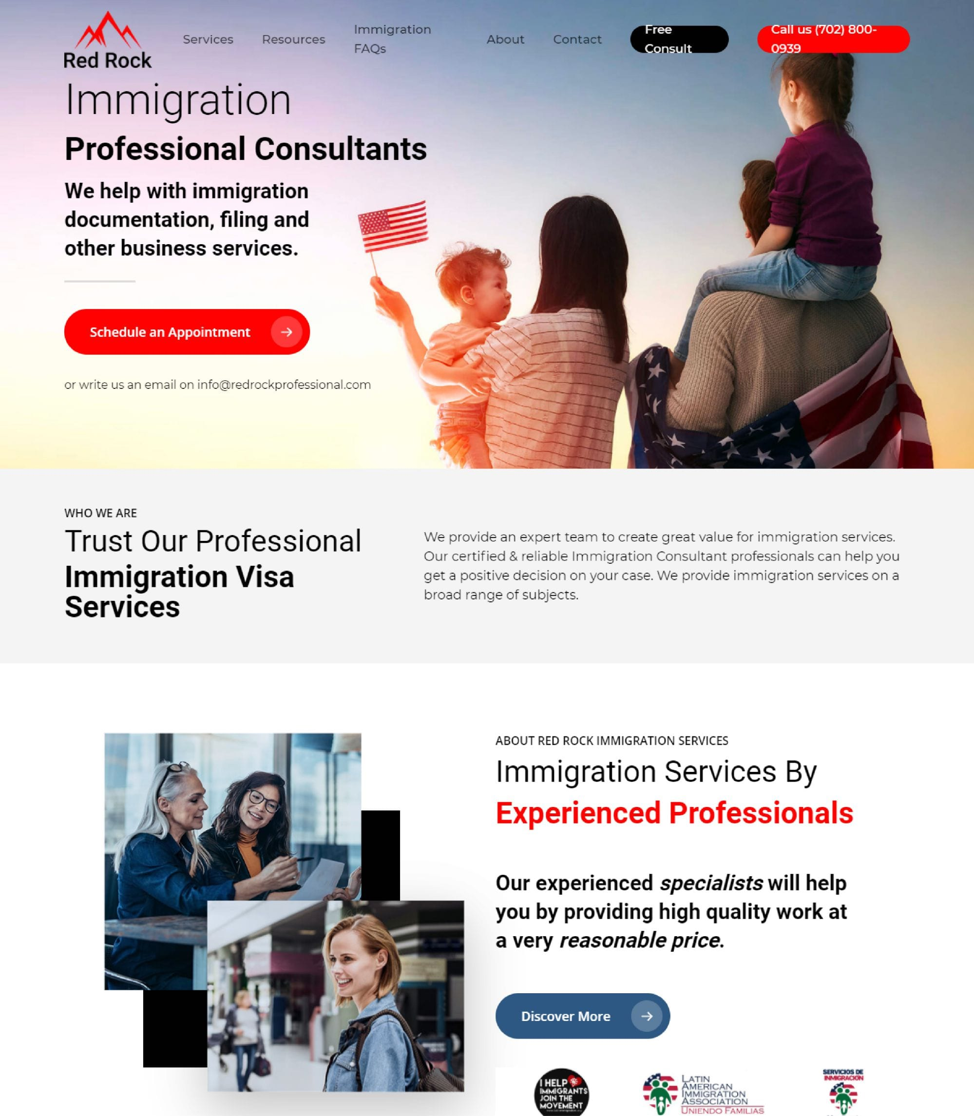 professional immigration document website designers