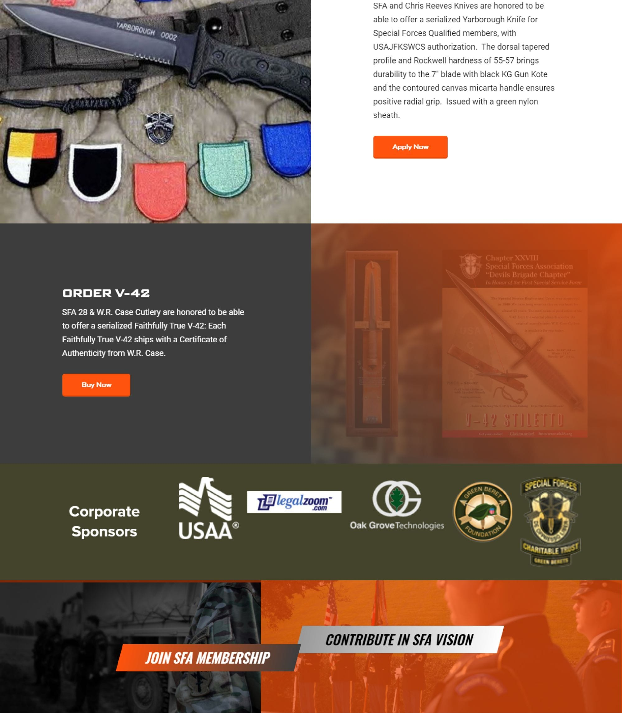 special forces association website, corporate sponsors