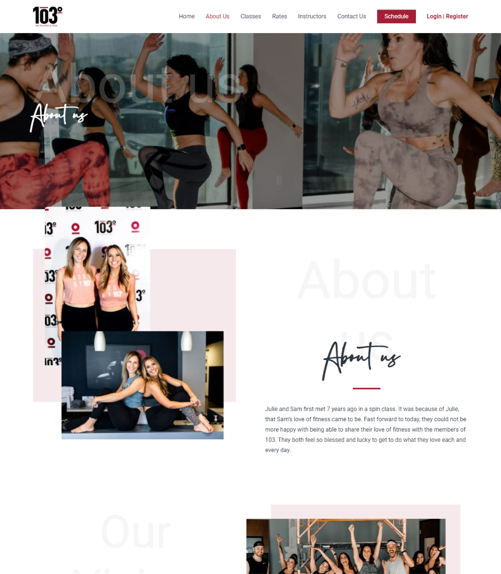 103 Yoga About Us Landing Page Design