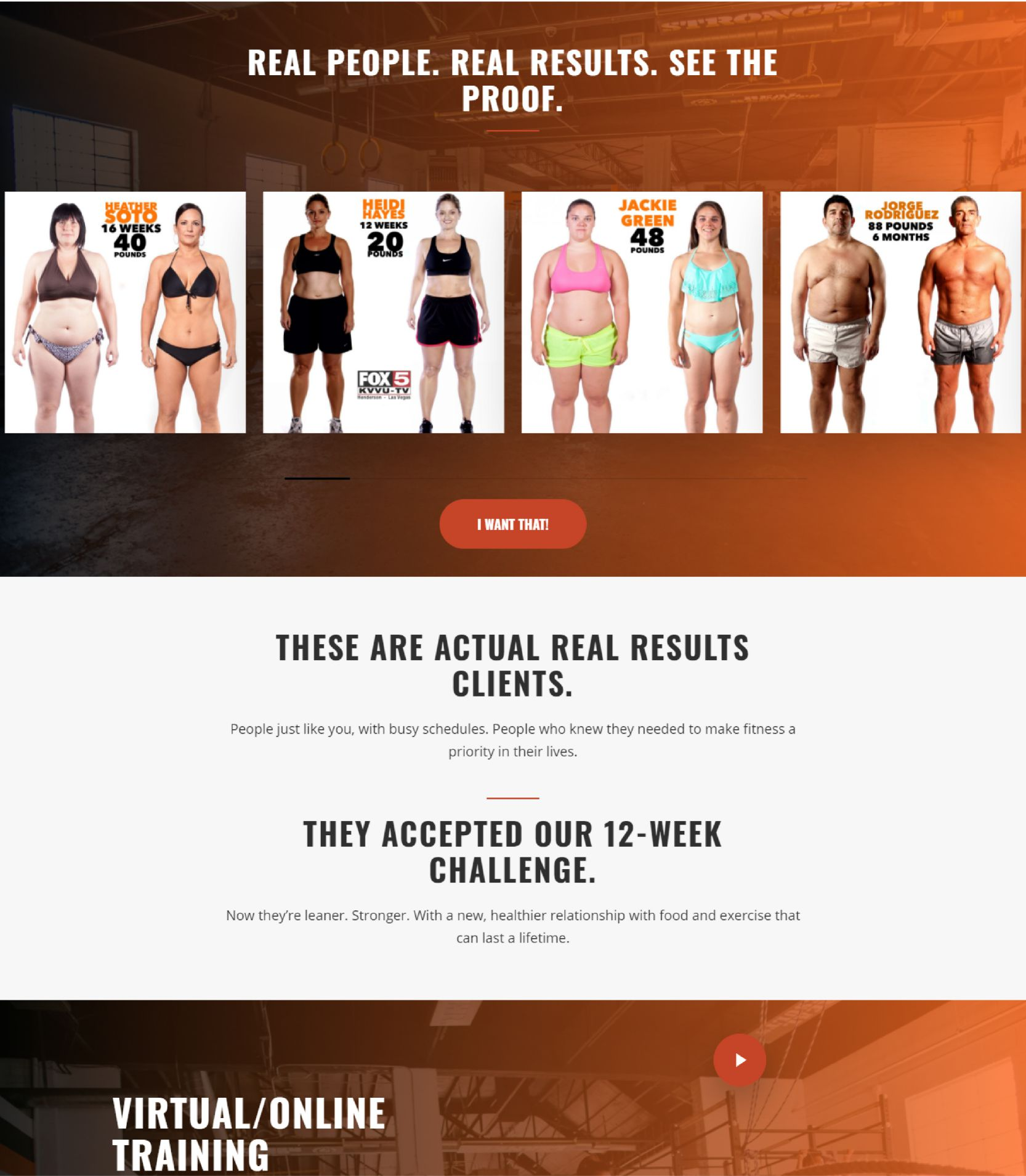 103 Yoga Real People Results Landing Page Design