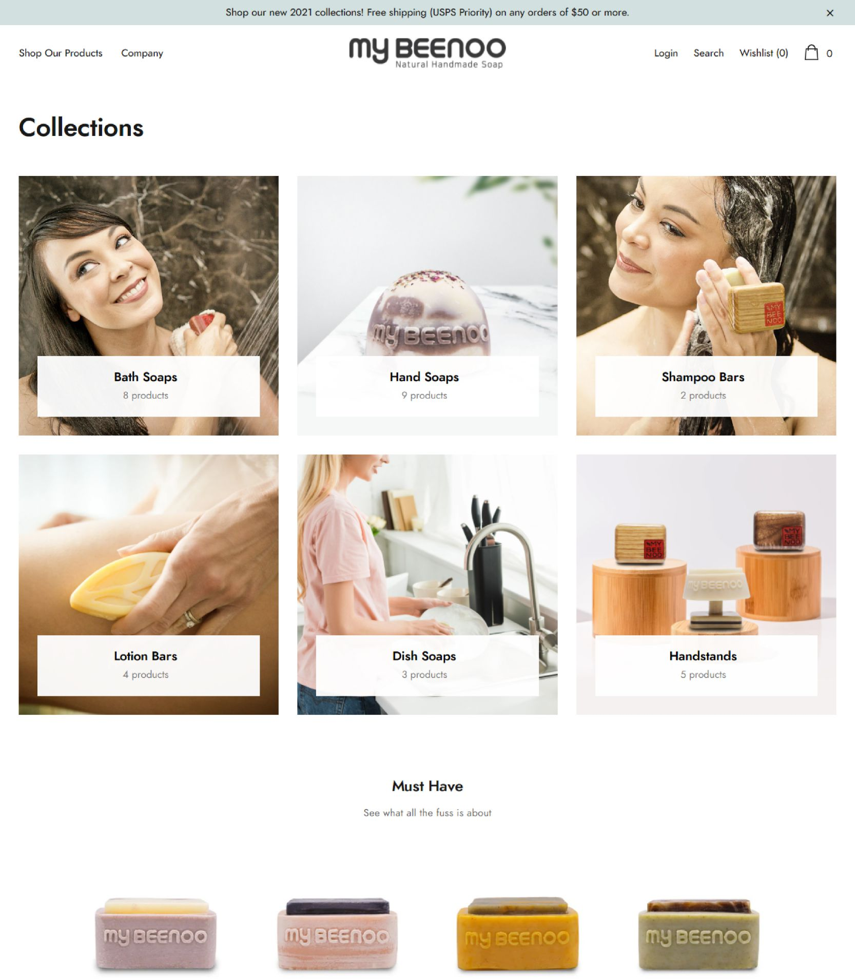 My Beeno Category Landing Page Design