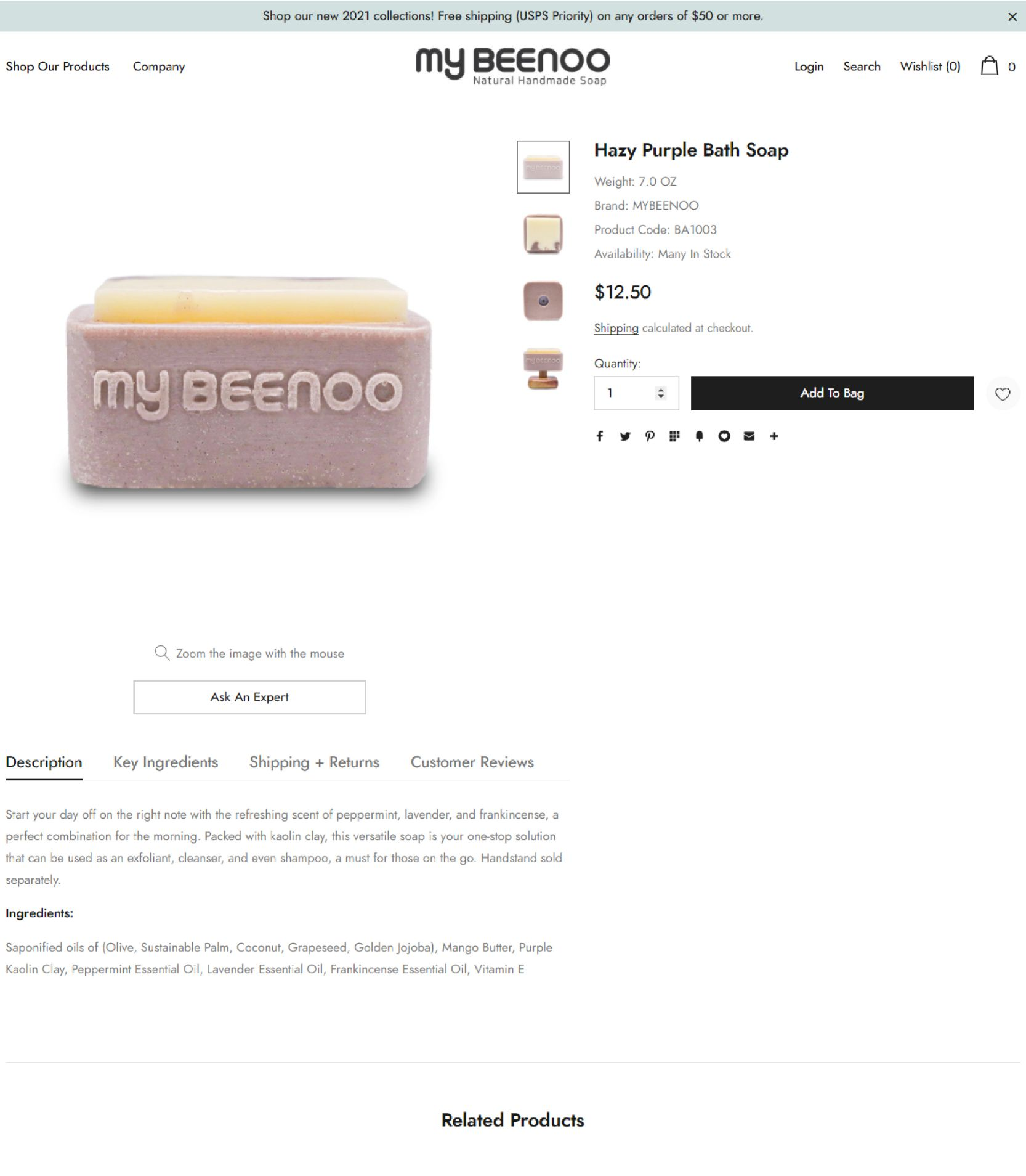 My Beeno Product Landing Page Design